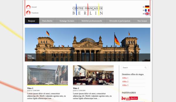 Site internet du Centre Français de Berlin