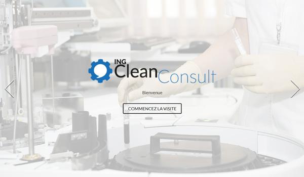 Site internet de ING Clean Consult