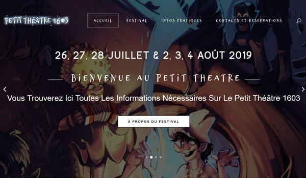 Site internet du Petit Théâtre 1603